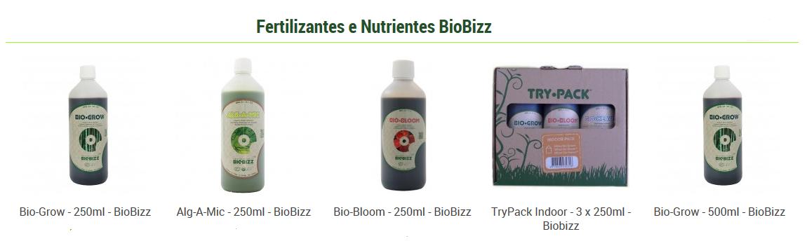 Fertilizantes e Nutrientes BioBizz